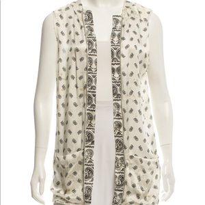 Pierre Balmain Printed Silk Vest w/tag